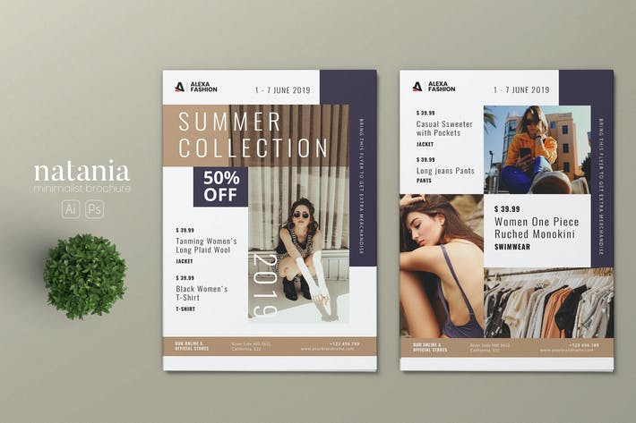 Thumbnail for Minimalist Fashion AI and PSD Flyer Vol.08