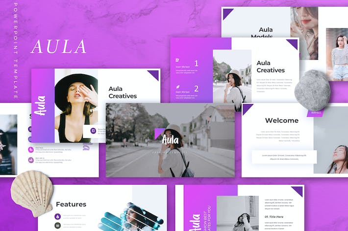 Thumbnail for AULA - Fashion Powerpoint Template
