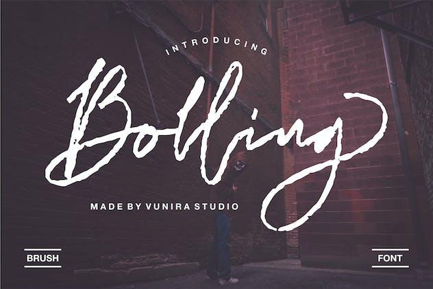 Bolling | Brush Font