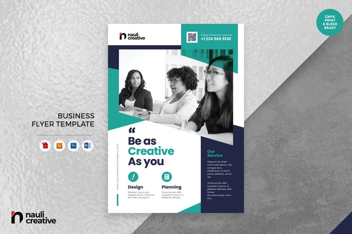 Thumbnail for Corporate Business Flyer AI, DOC, & PSD Vol.19