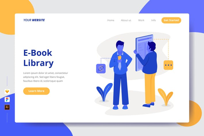 Thumbnail for E-Book Library - Landing Page