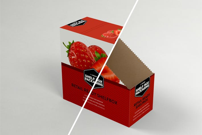 Thumbnail for Retail Shelfbox 13 Packaging Mockup