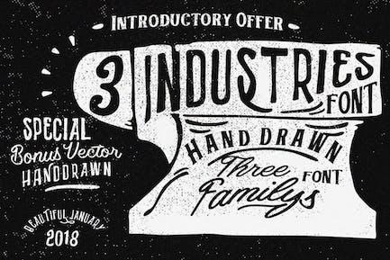 Three font industries