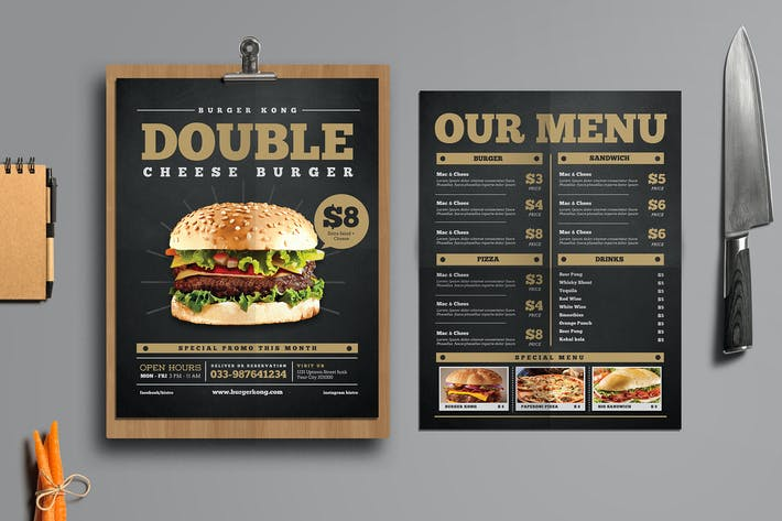 Thumbnail for Food Menu Promotion Flyer