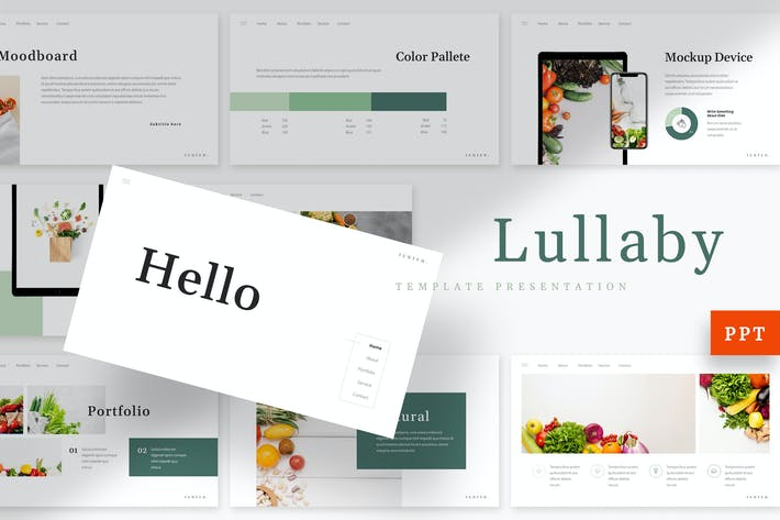 Thumbnail for Lullaby - Vegetables Powerpoint Template