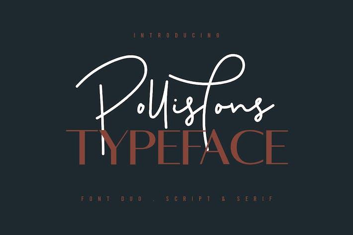 Thumbnail for Pollistons Signature Font