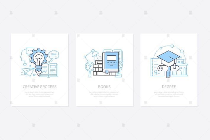 Thumbnail for Creative process, innovative thinking icons