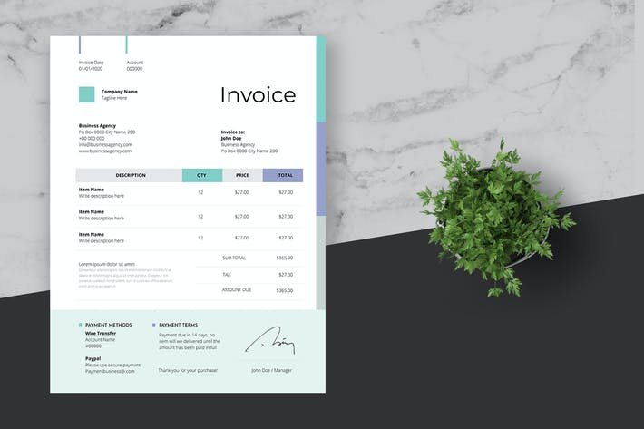 Thumbnail for Clean Invoice Design