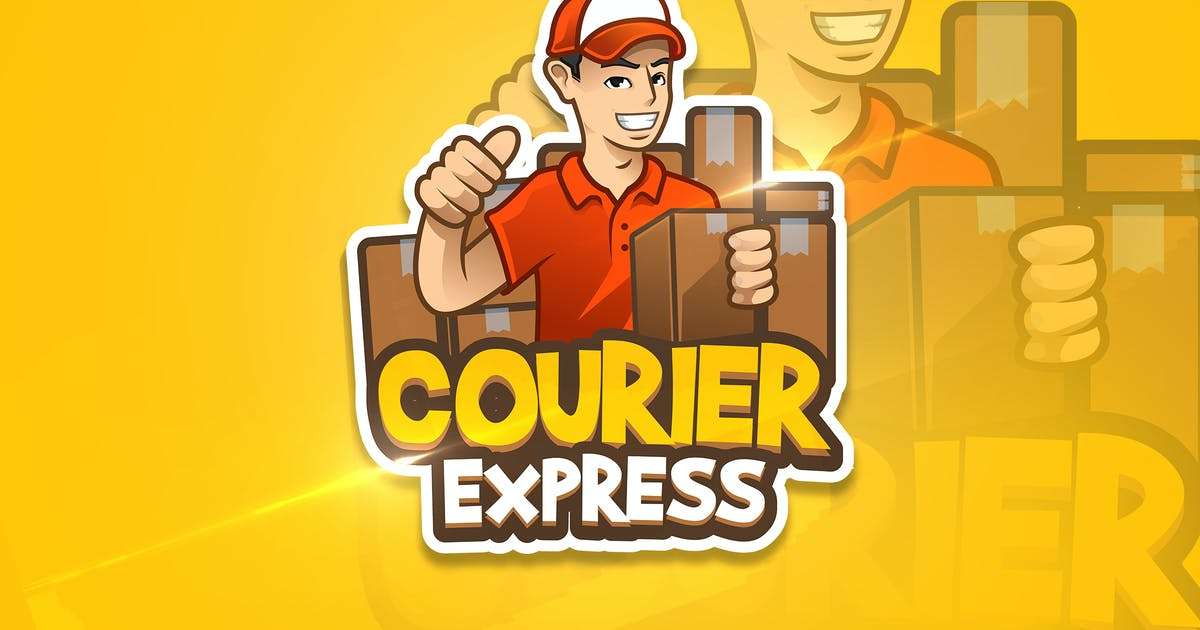 Download Courier Express - Mascot & Esport Logo by aqrstudio