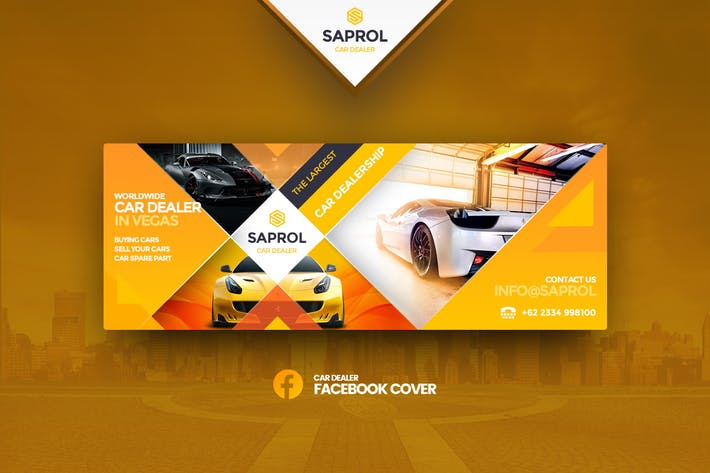 Thumbnail for Saprol Car Dealer Facebook Cover Template