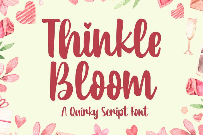 Thumbnail for Thinkle Bloom - a Quirky Font