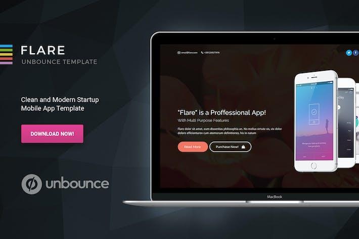 Thumbnail for Flare - Unbounce Startup Page de destination