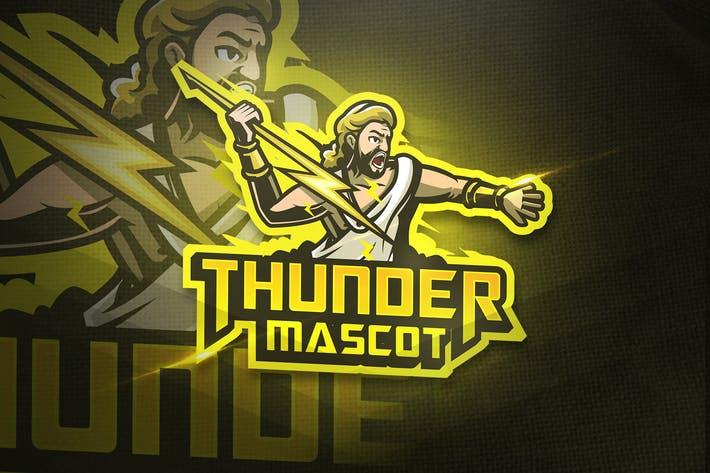 Thumbnail for Thunder Mascot - Esport & Mascot logo