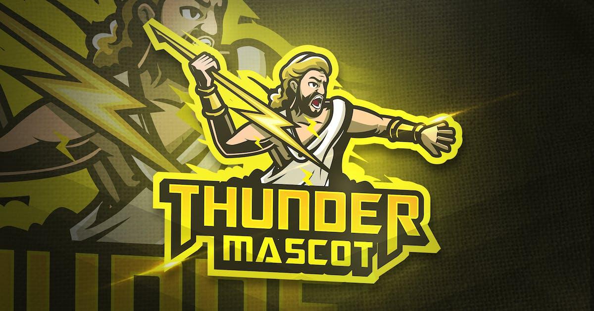 Download Thunder Mascot - Esport & Mascot logo by aqrstudio