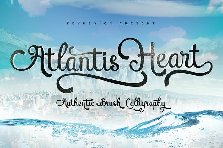 Thumbnail for Atlantis Heart Font