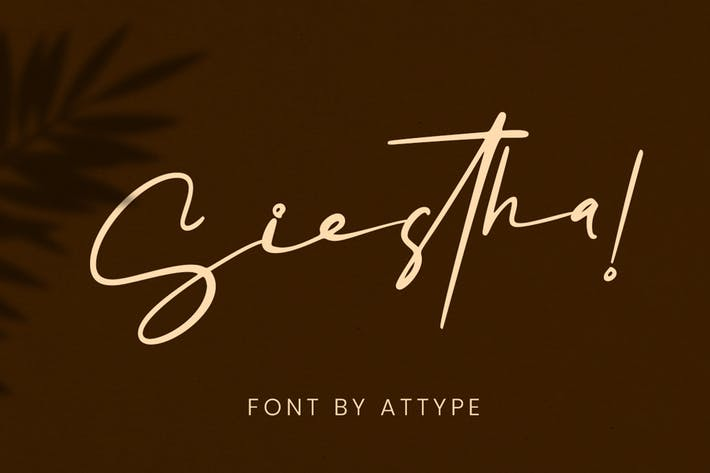 Thumbnail for Siestha - Signature Font