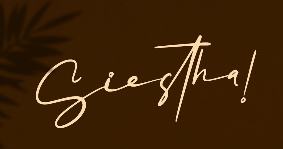 Download Siestha - Signature Font by Attype-Studio