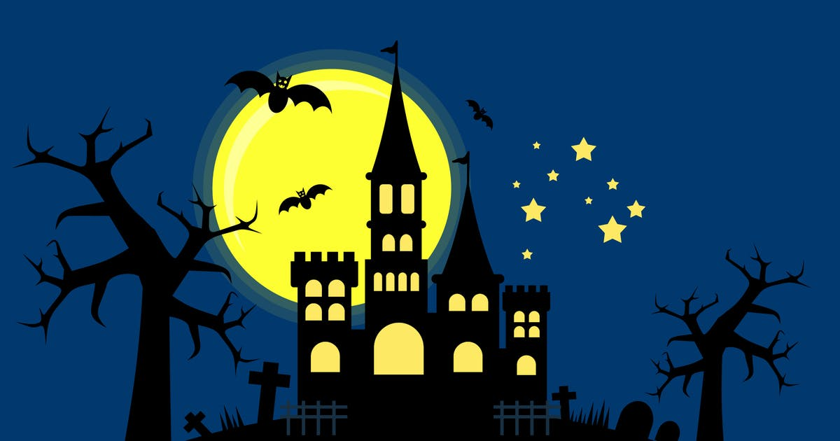 Download Halloween Witch Castle - Illustration Background by Graphiqa