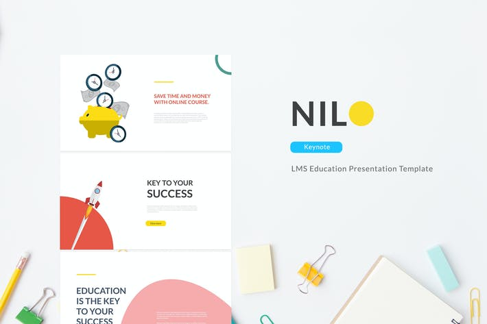 Thumbnail for Nilo - LMS Education Keynote Template
