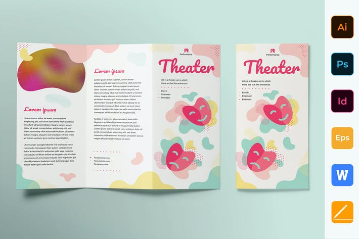 Cover Image For Theater Brochure Trifold