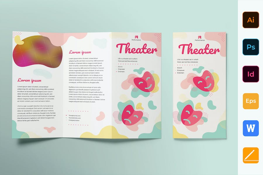 Theater Brochure Trifold