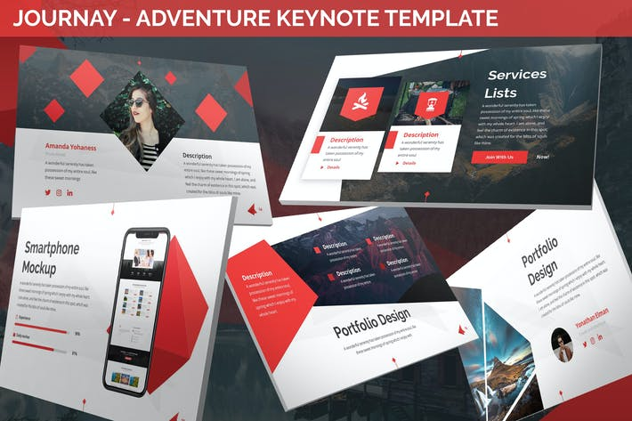 Thumbnail for Journay - Adventure Keynote Template