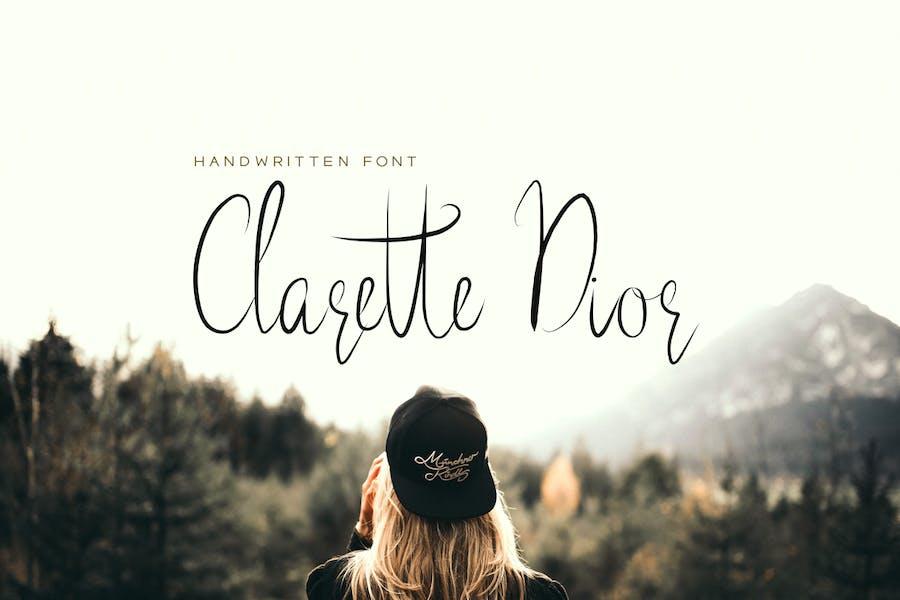 Clarette Dior - красивый рукописный шрифт