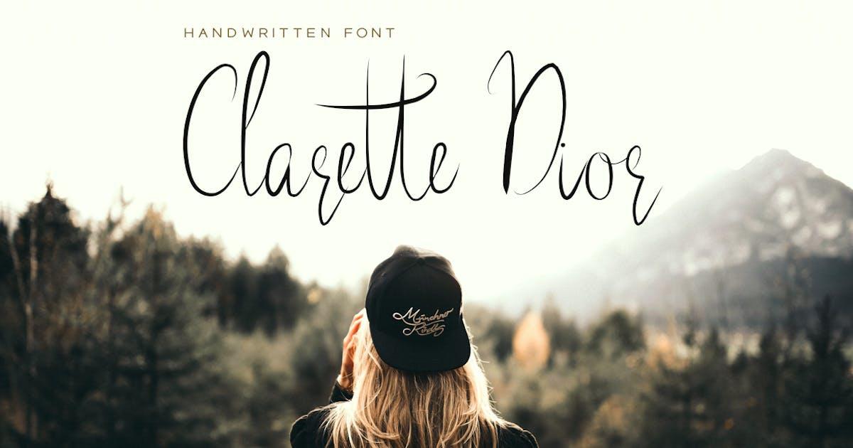Download Clarette Dior - Beautiful Handwritten Font by designova