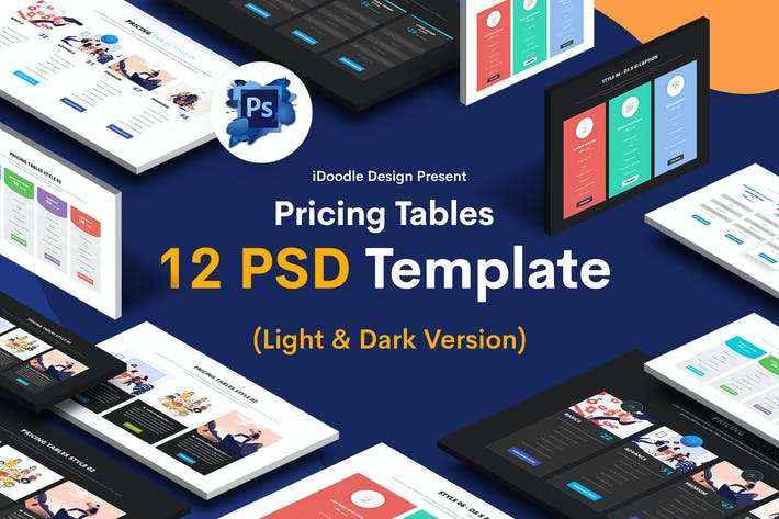 Thumbnail for Pricing Tables PSD UI Kits
