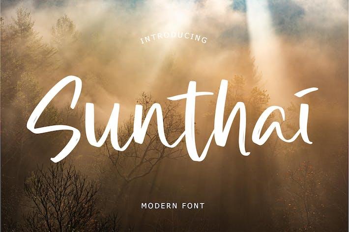 Thumbnail for Современный шрифт Sunthai