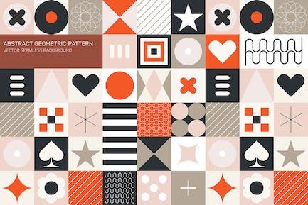 Abstraktes geometrisches Muster, Naht