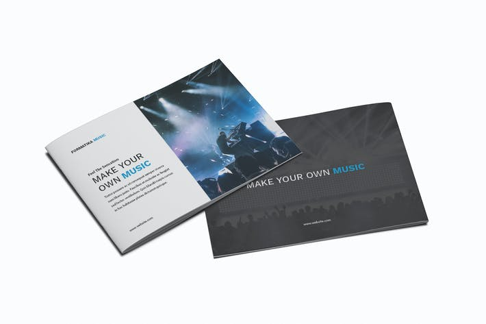 Thumbnail for Music A5 Brochure Template