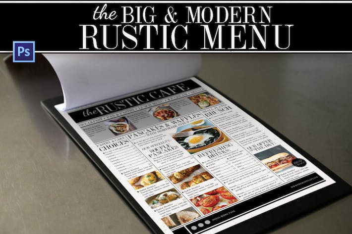 Cover Image For Big & Modern Rustic Menu