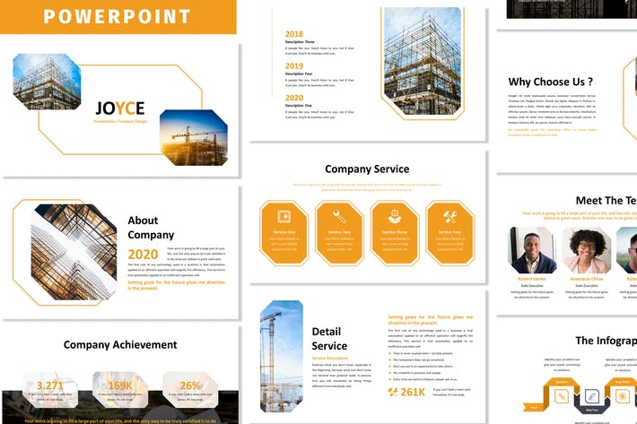 Thumbnail for Joyce - Business Powerpoint Template