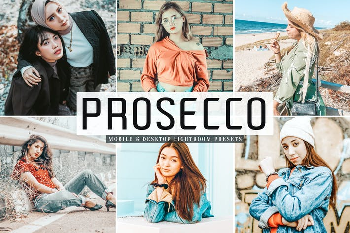 Thumbnail for Prosecco Mobile & Desktop Lightroom Presets