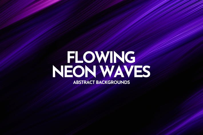 Flowing Neon Waves Backgrounds