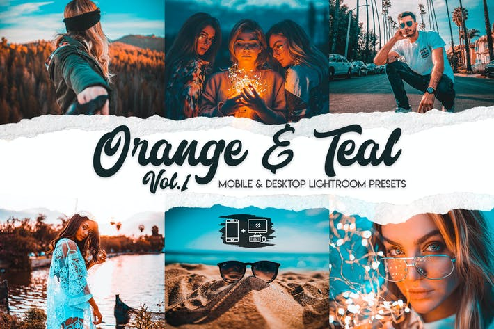 Thumbnail for Orange & Teal Lightroom Presets Vol. 1