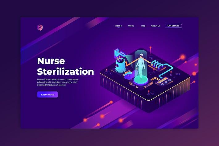 Nurse Sterilization - Isometric Landing Page
