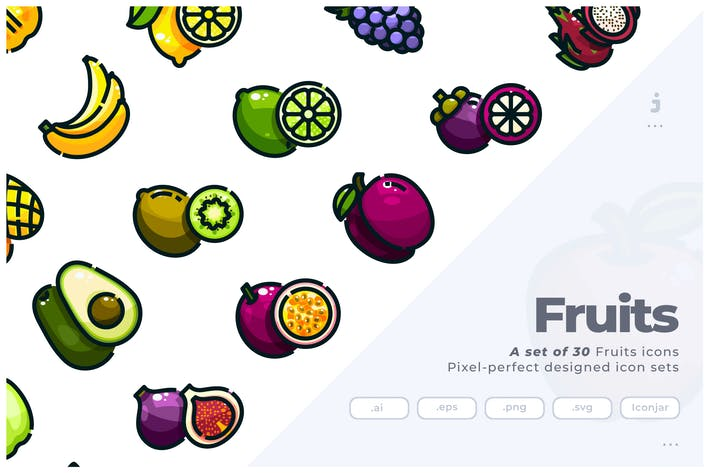 Thumbnail for 30 Fruits Icons