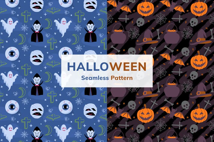 Thumbnail for Halloween Seamless Pattern