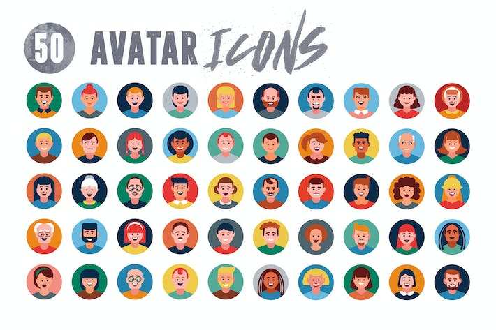 Thumbnail for 50 User Avatar Icons