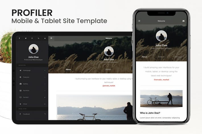 Thumbnail for Profiler | Mobile Resume & CV Site Template