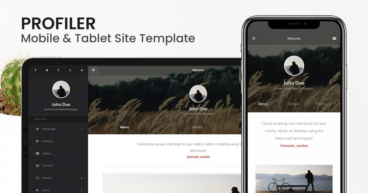 Download Profiler | Mobile Resume & CV Site Template by Enabled