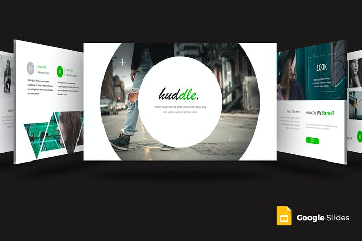 Cover Image For Huddle - Шаблон слайдов Google