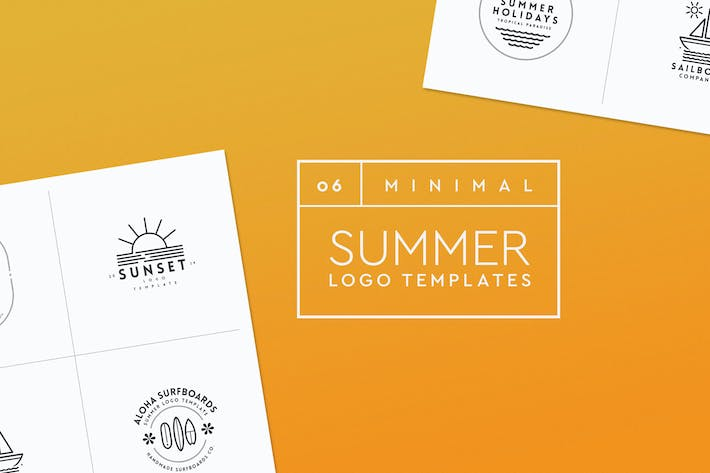 Thumbnail for Minimal Summer Logo Templates