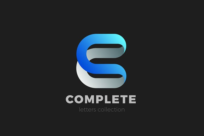 Letter C Logo design 3D Ribbon style