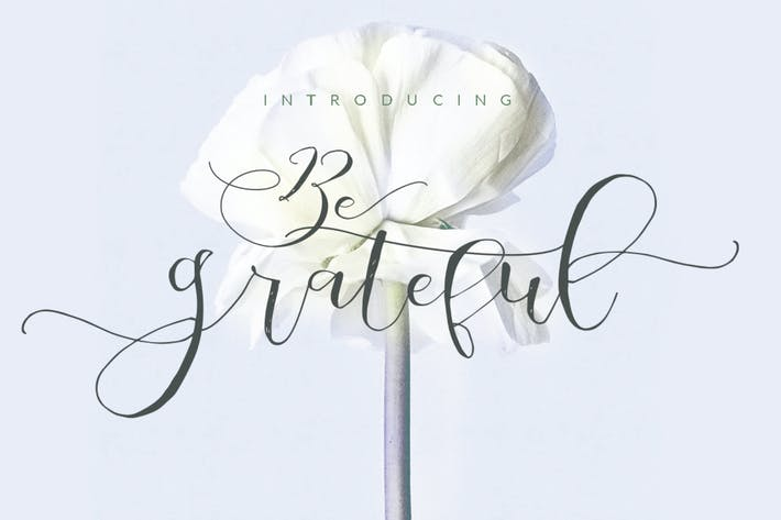 Thumbnail for Be Grateful Script wedding Signature