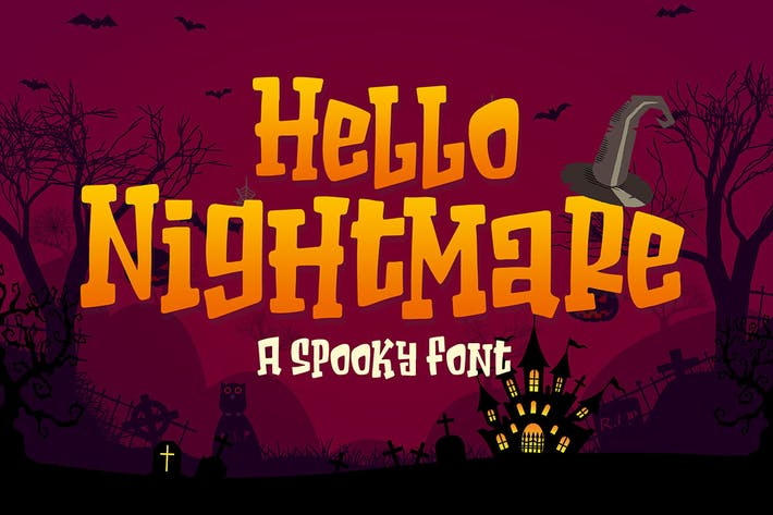 Thumbnail for Hello Nightmare a Spooky Font