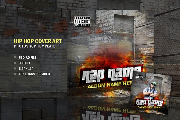 Thumbnail for Rap Hip Hop Album CD Cover Art