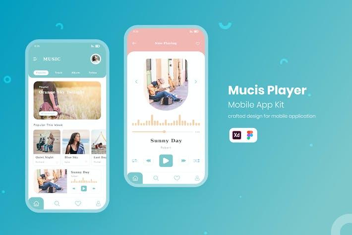 Thumbnail for UI Mobile Kit Music Player
